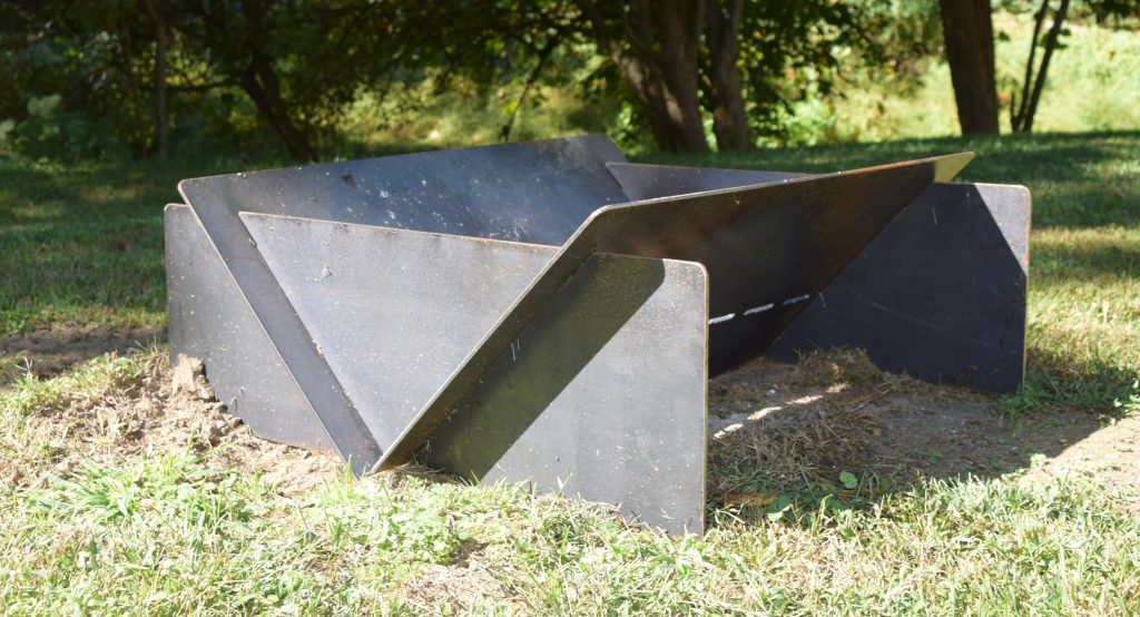 Mark Metals Custom Steel Fire Pit - Custom Metal Fabrication: Carbon Steel Fire Pit